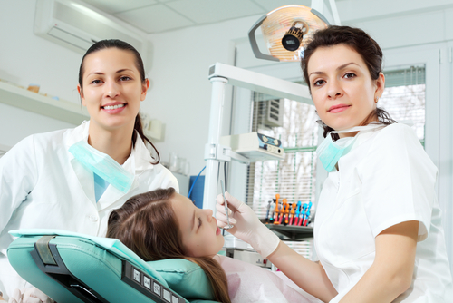 Dental Team Member, Patient and Dentist